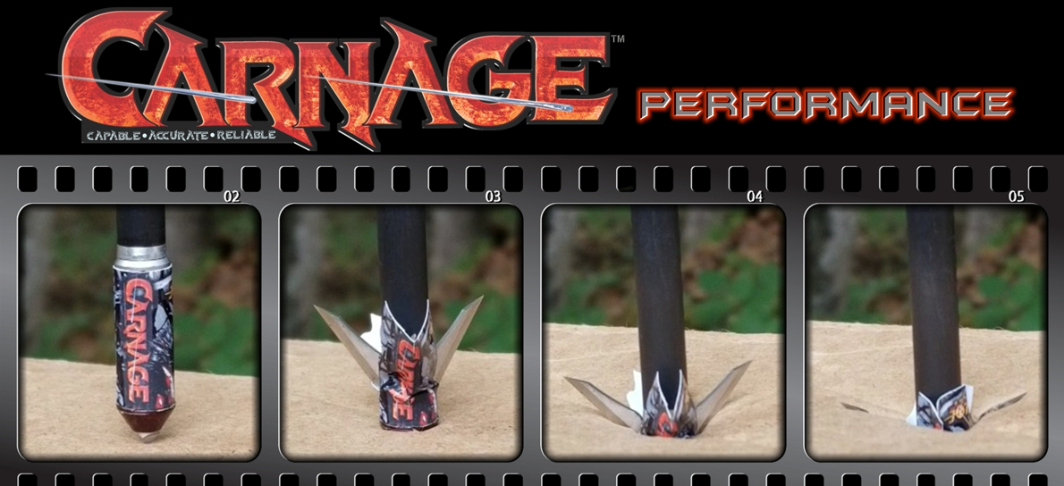 Innerloc Carnage 100 grain mechanical broadhead how it works
